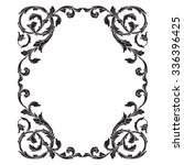 vintage baroque frame scroll... | Shutterstock .eps vector #336396425