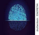 fingerprint scanner ... | Shutterstock .eps vector #336398744