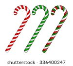 candy cane striped in christmas ... | Shutterstock .eps vector #336400247