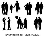 drawing people to walk.... | Shutterstock . vector #33640333