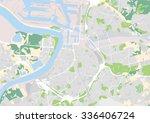 vector city map of antwerp ... | Shutterstock .eps vector #336406724