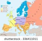 main european regions map. all...   Shutterstock .eps vector #336411011
