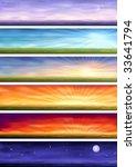 Day Cycle   Set Of Six Colorfu...