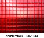 lot of red rounded glass cubes... | Shutterstock . vector #3364333