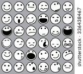 Caricature Emoticons. Vector...