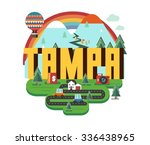 tampa city travel destination... | Shutterstock .eps vector #336438965