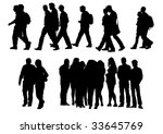 drawing people to walk.... | Shutterstock . vector #33645769