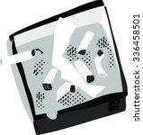 monochrome illustration of... | Shutterstock .eps vector #336458501