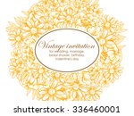 invitation with floral... | Shutterstock . vector #336460001