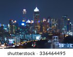 night blurred bokeh city office ... | Shutterstock . vector #336464495