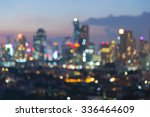 Blurred Bokeh City Lights At...