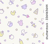 seamless pattern. pastel colors....   Shutterstock .eps vector #336465644