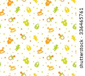 colorful baby seamless pattern. ... | Shutterstock .eps vector #336465761