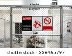 safety signs warning   danger... | Shutterstock . vector #336465797