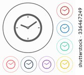 clock icon | Shutterstock .eps vector #336467249