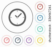 clock icon | Shutterstock .eps vector #336467261