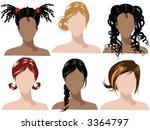 illustration of female hair...