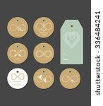 infinity gift tags  labels ... | Shutterstock .eps vector #336484241