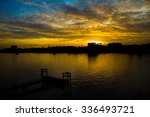 the river side was silhouette... | Shutterstock . vector #336493721