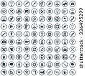 creative process 100 icons... | Shutterstock .eps vector #336495299