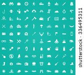 camping 100 icons universal set ... | Shutterstock .eps vector #336495311