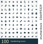 gardening icons vector set | Shutterstock .eps vector #336495329