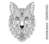 ornamental wolf. illustration...   Shutterstock . vector #336501461