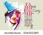 fashion illustration  woman... | Shutterstock .eps vector #336502385