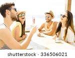 fiends having a great time... | Shutterstock . vector #336506021