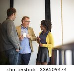 business team coffee break...   Shutterstock . vector #336509474