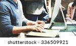 business team meeting...   Shutterstock . vector #336509921