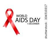 1 december world aids day...   Shutterstock .eps vector #336510317