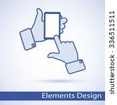hands businessman showing how... | Shutterstock .eps vector #336511511