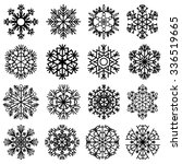 flat snowflakes. icons isolated ... | Shutterstock .eps vector #336519665