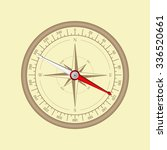 compass. vintage wind rose.... | Shutterstock .eps vector #336520661