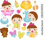 babies in action   Shutterstock .eps vector #336524054