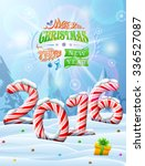 new year 2016 in shape of candy ... | Shutterstock .eps vector #336527087