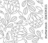 flower abstract seamless... | Shutterstock . vector #336534311