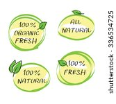 health food headings vector set ... | Shutterstock .eps vector #336534725