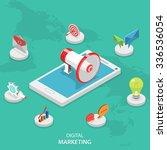 digital marketing isometric... | Shutterstock .eps vector #336536054