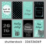 christmas and new year hand... | Shutterstock .eps vector #336536069