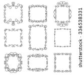 set of decorative frames in a... | Shutterstock .eps vector #336538331