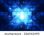 abstract futuristic digital... | Shutterstock .eps vector #336542495