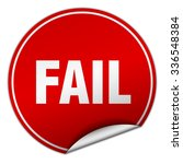 fail round red sticker isolated ... | Shutterstock .eps vector #336548384