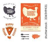 thanksgiving day invitation... | Shutterstock .eps vector #336549431