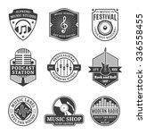 set of vector music logo. music ... | Shutterstock .eps vector #336558455
