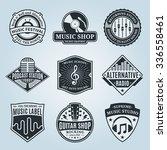 set of vector music logo. music ... | Shutterstock .eps vector #336558461