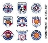 set of sport team logo... | Shutterstock .eps vector #336558509