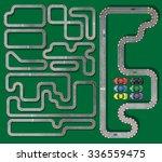 ten tracks circuit whith racing ...   Shutterstock .eps vector #336559475