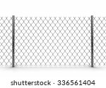 chainlink fence. image with... | Shutterstock . vector #336561404